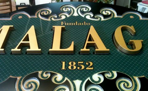 Restaurante Málaga Rotulación Artística