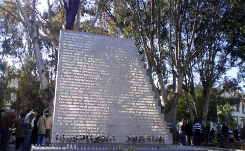 Monumento Víctimas del Holocausto Rotulación Artística